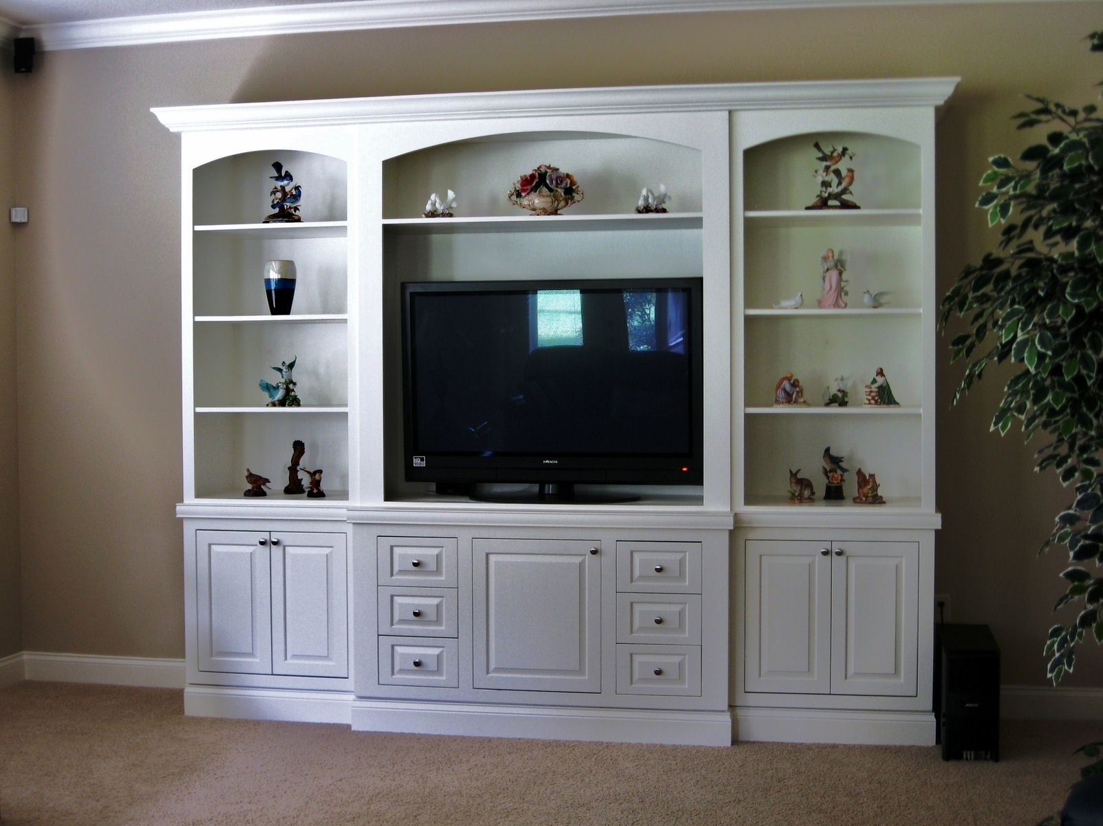 Painted Entertainment Center (With images) | Painted ...