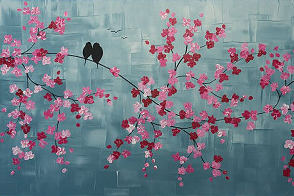 Learn To Paint Cherry Blossoms Cherry Blossom Painting Cherry Blossom Art Flower Art Painting