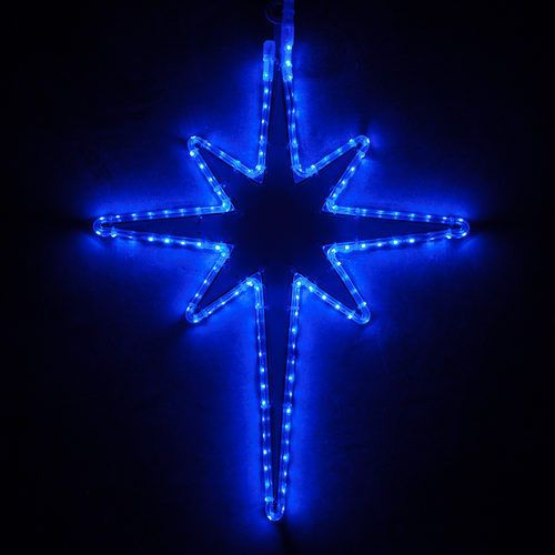 Led Christmas Bethlehem Star Lighted Outdoor Decoration Blue