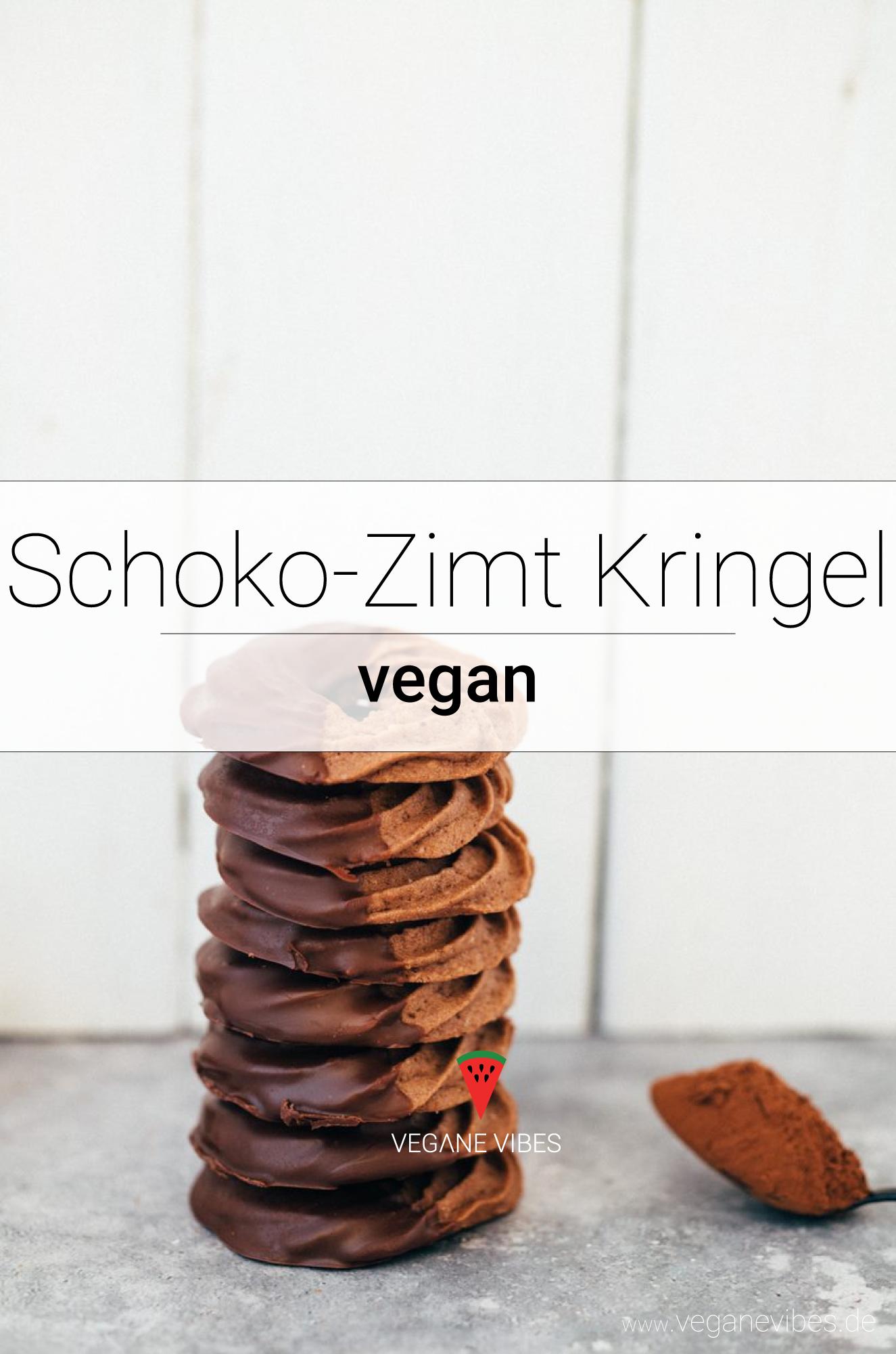 Vegane Schoko-Zimt Kringel #cookiesalad