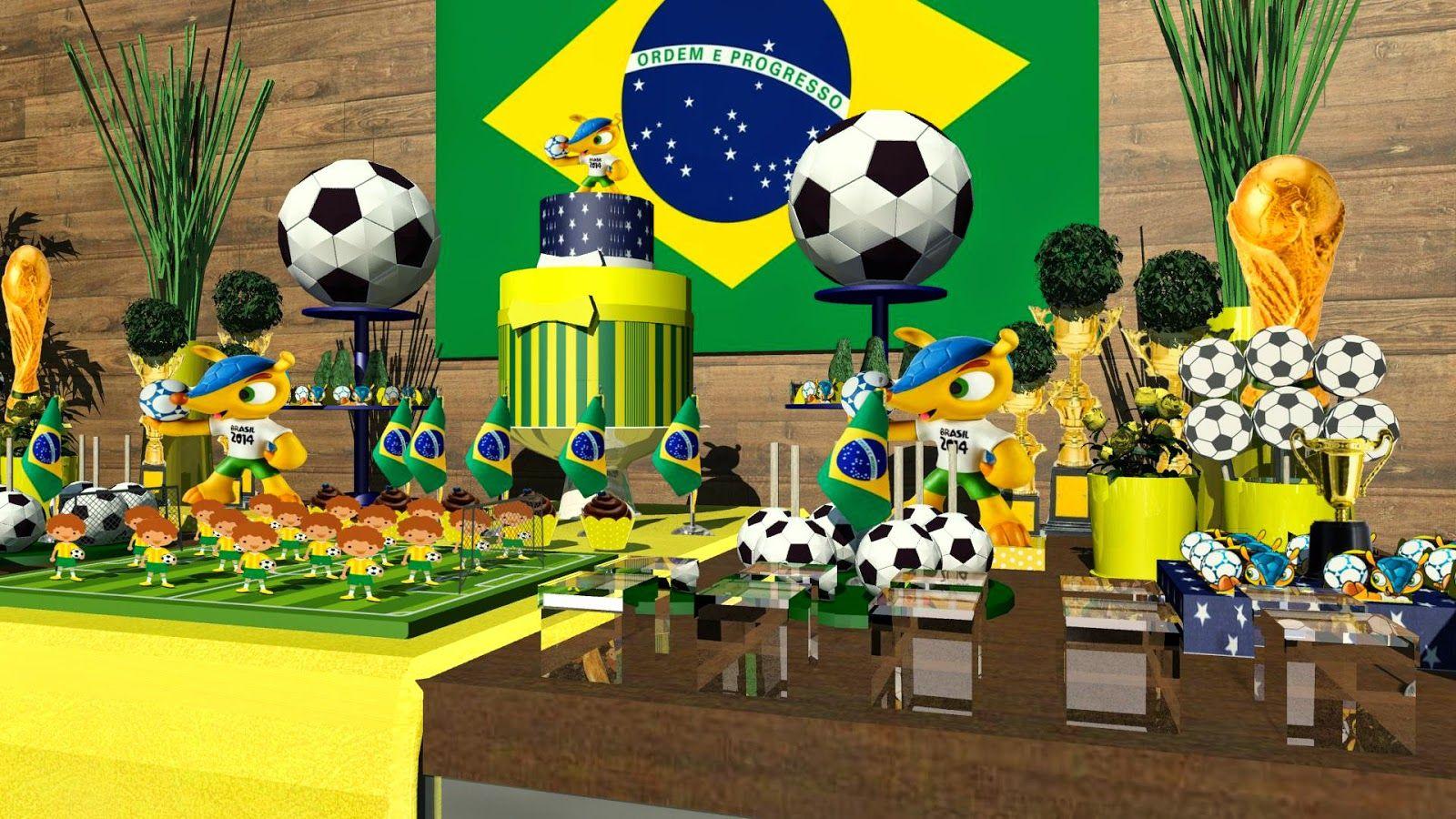 Decoracao De Aniversario Copa Do Mundo Com Imagens Decoracao