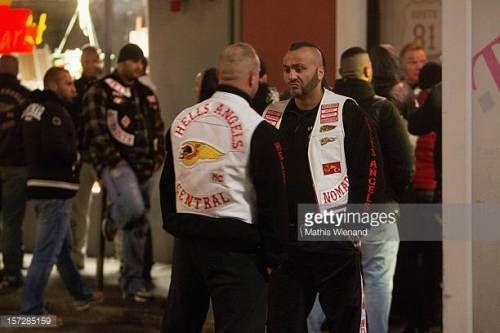 09-19 KREFELD, GERMANY - NOVEMBER 30: Hells Angels supporters