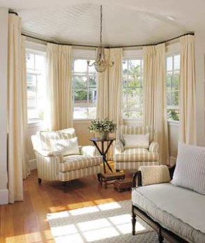 Curved Curtain Rods For Bay Window We Need These For Our Dining Room Dining Room Windows Living Room Windows Bay Window Living Room