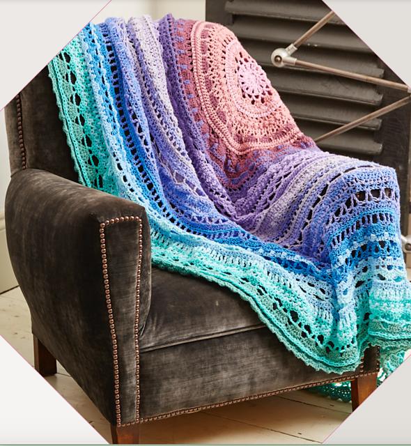 Mega Mandala Crochet Blanket Hannah Cross Made In Stylecraft Special Dk Crochet Mandala Crochet Knit Blanket Crochet Mandala Pattern
