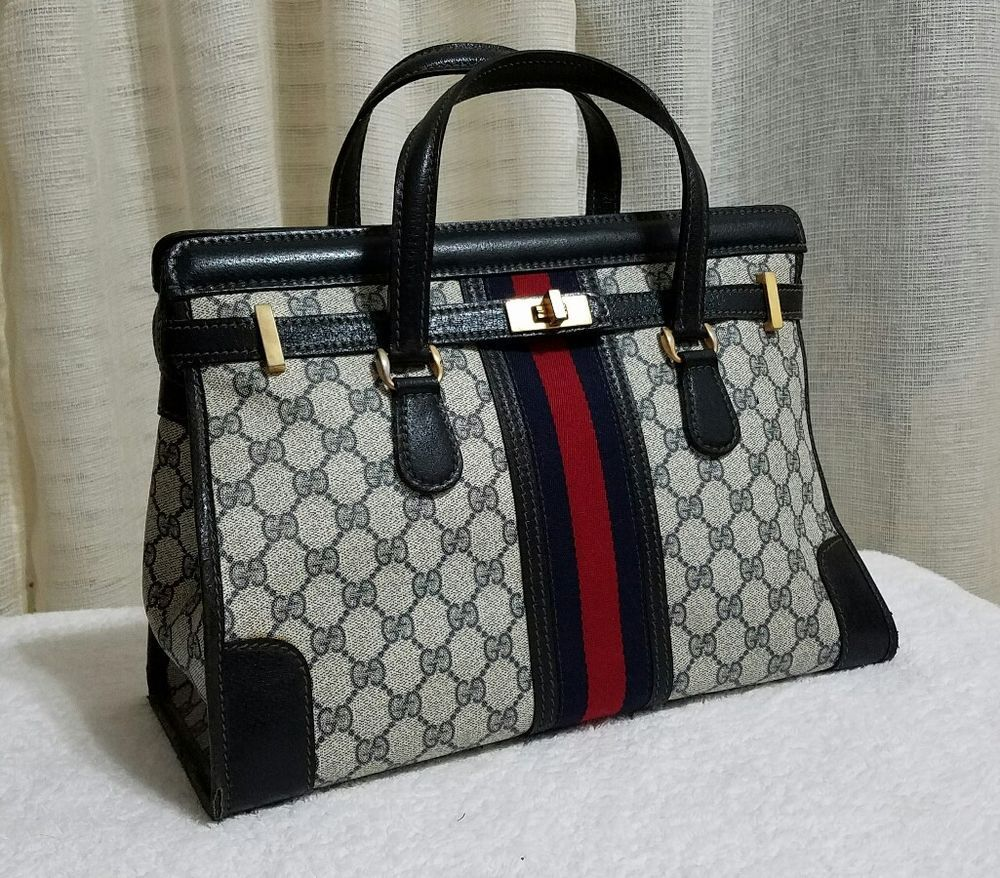 gucci vintage bags. authentic rare vintage gucci bag gg monogram purse htf 70s bags s