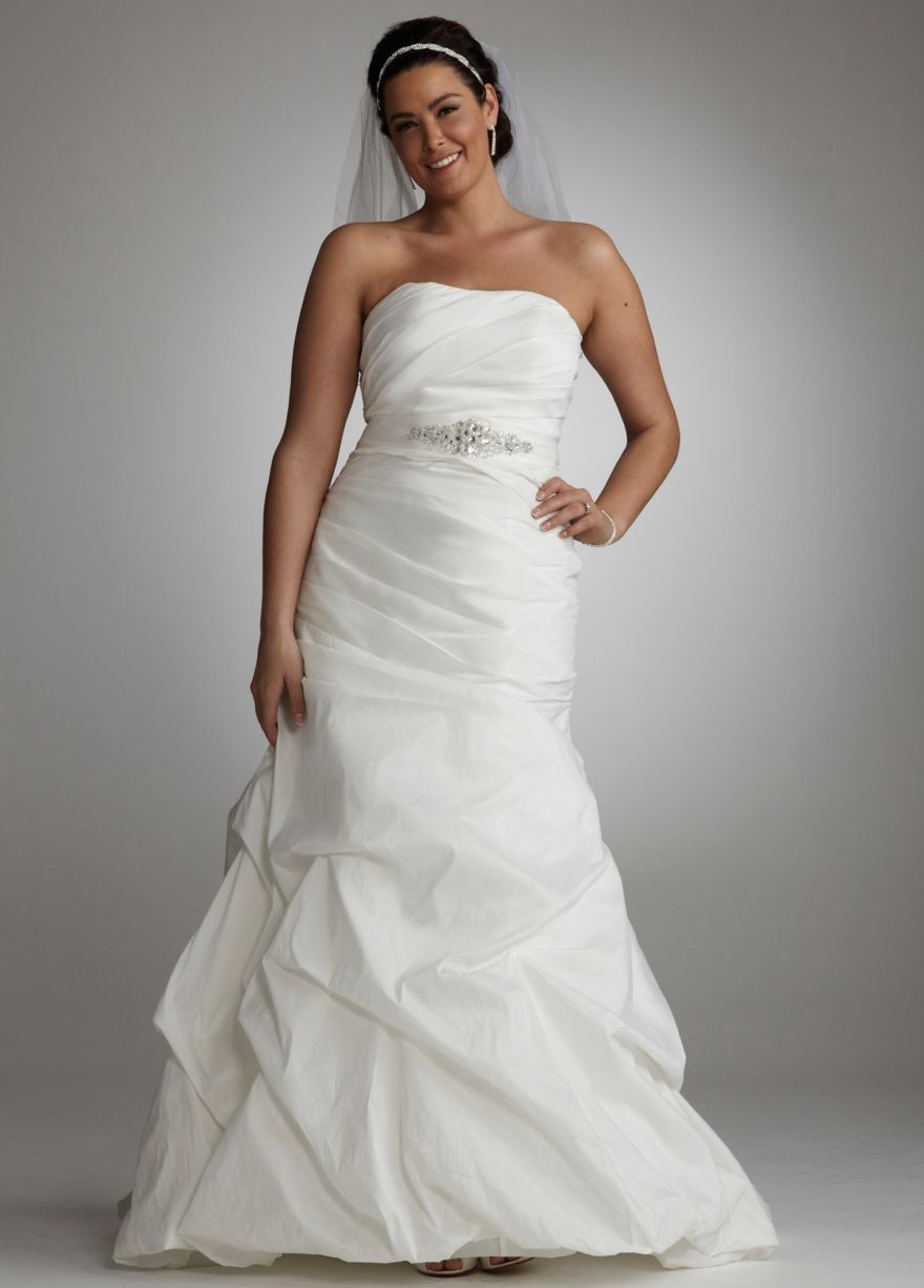 Taffeta fit and flare gown with pick ups and sash davids bridal taffeta fit and flare gown with pick ups and sash davids bridal mobile wholesale wedding dresseswedding dresses plus sizeplus ombrellifo Images
