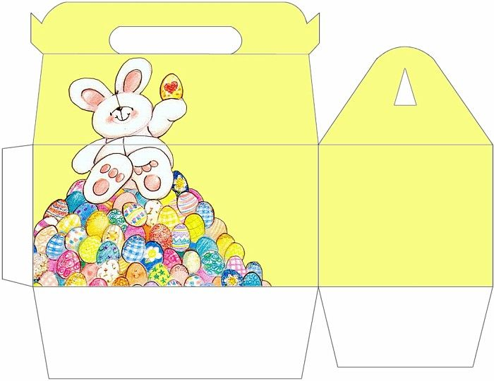 Easter hp gable gift box large free printable pinterest easter hp gable gift box large negle Image collections