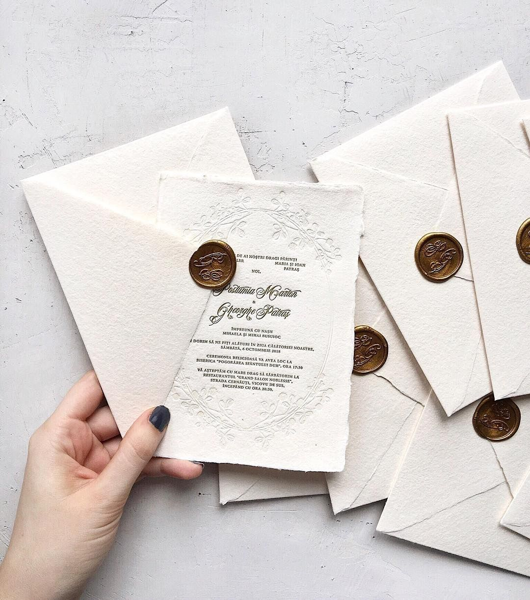 Matchy Matchy Letterpress Invite And Handmade Envelope: Elegant Letterpress Wedding Invitations, Handmade