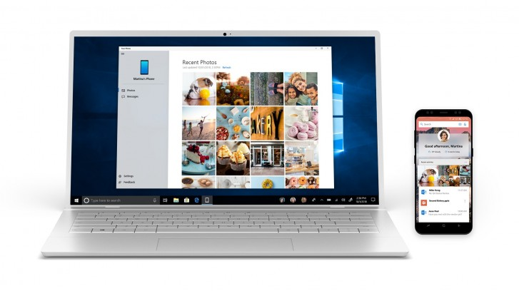 Microsoft's Your Phone app syncs photos, texts and