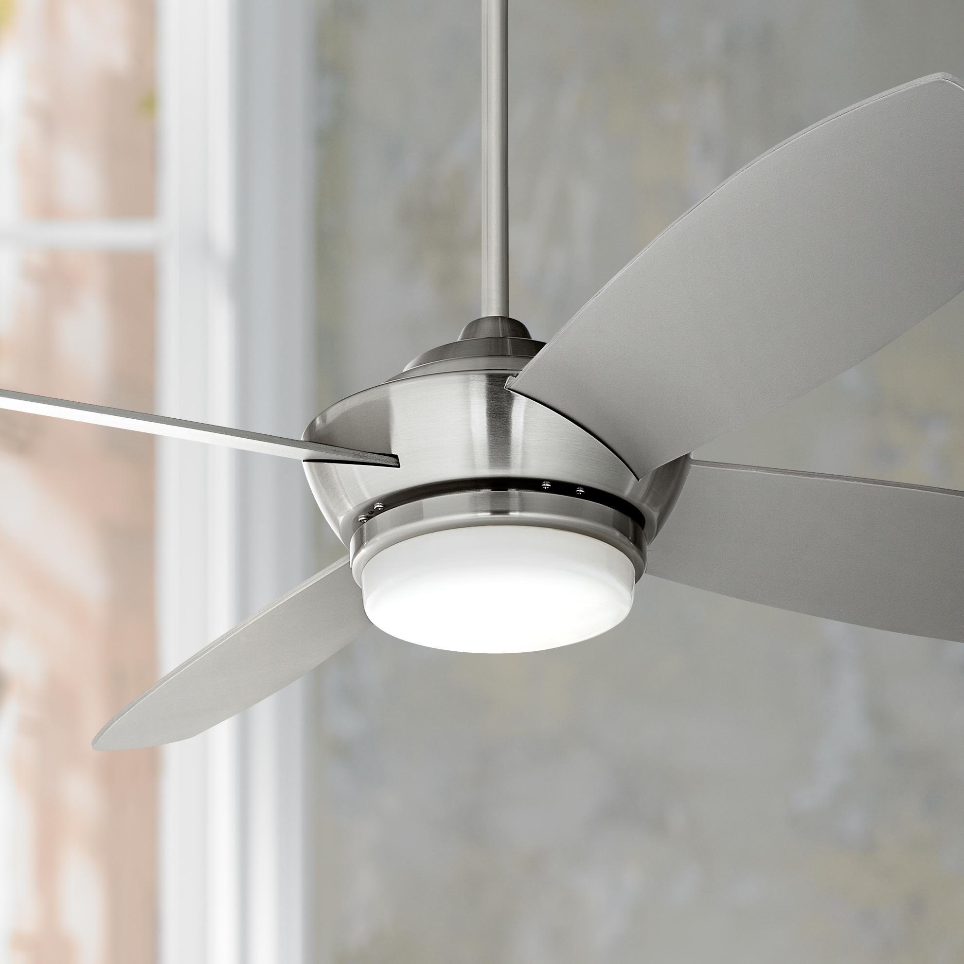52 Casa Vieja Veridian Brushed Nickel Ceiling Fan Y2176 Lamps Plus Ceiling Fan With Light Brushed Nickel Ceiling Fan Led Ceiling Fan