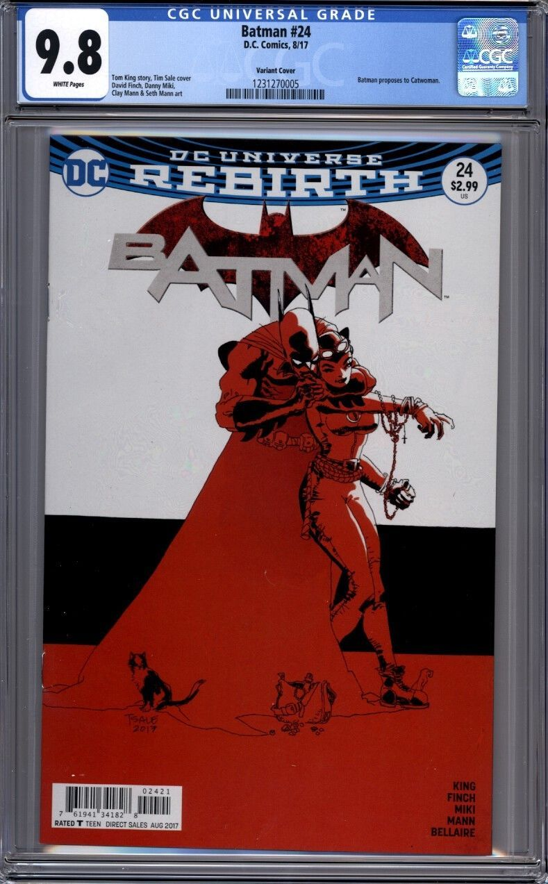 Rebirth Batman #24 First Printing DC Comics Catwoman Proposal Tom King