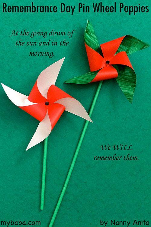 Pinwheel Poppies | Nanny Anita | My Baba #remembrancedaycraftsforkids
