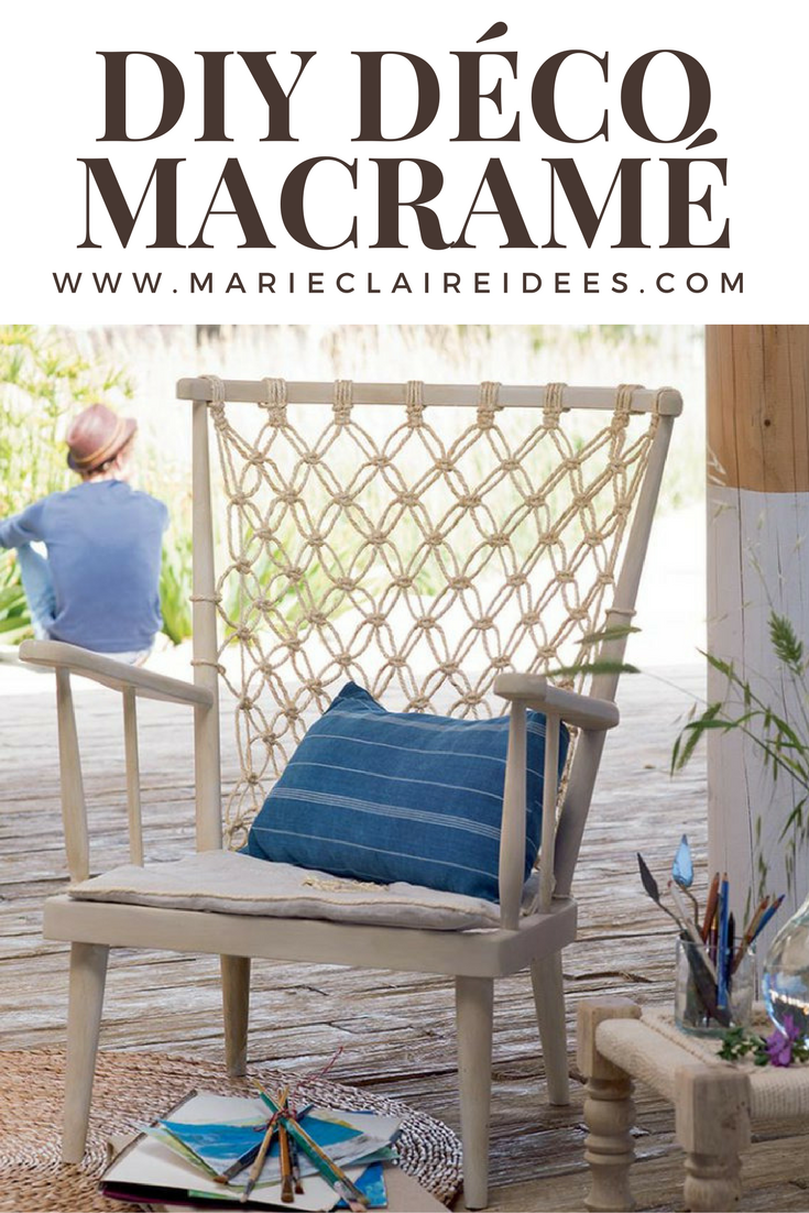 un fauteuil en macram d co for the home macram macrame diy et tuto macram. Black Bedroom Furniture Sets. Home Design Ideas