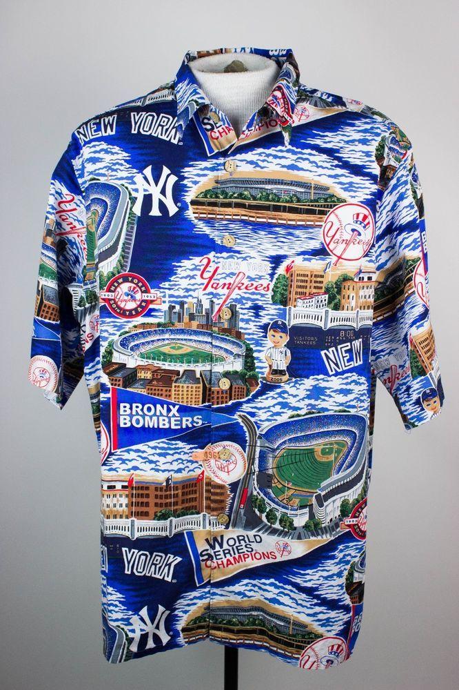 2c098fd6 Reyn Spooner Mens XXL 2XL NY New York Yankees World Series Camp Hawaiian  Shirt #ReynSpooner #Hawaiian