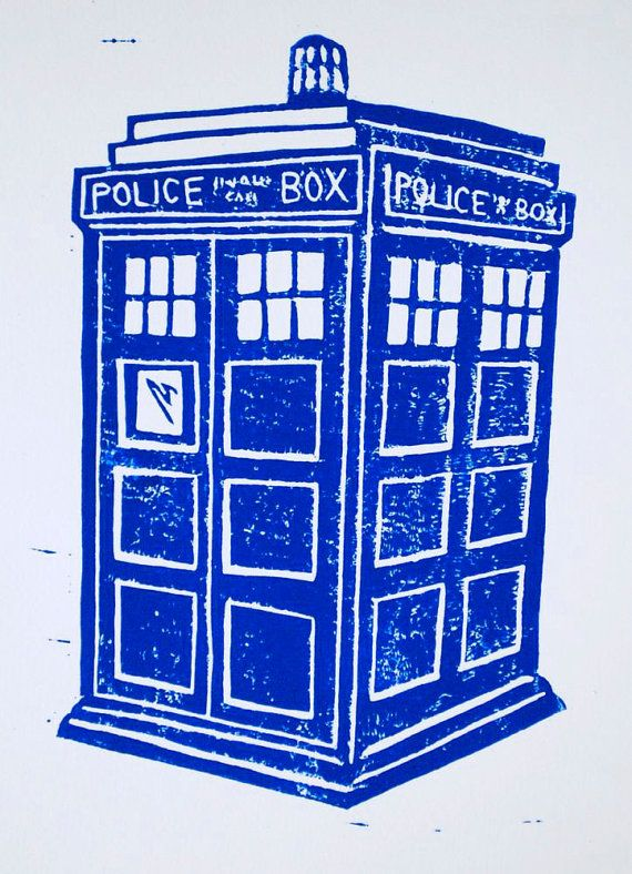 Tardis block print. You guys, I really just need more walls in my house.