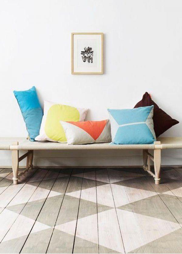 parquet peint toutes nos inspirations pour peindre un parquet marie claire maison parquet. Black Bedroom Furniture Sets. Home Design Ideas