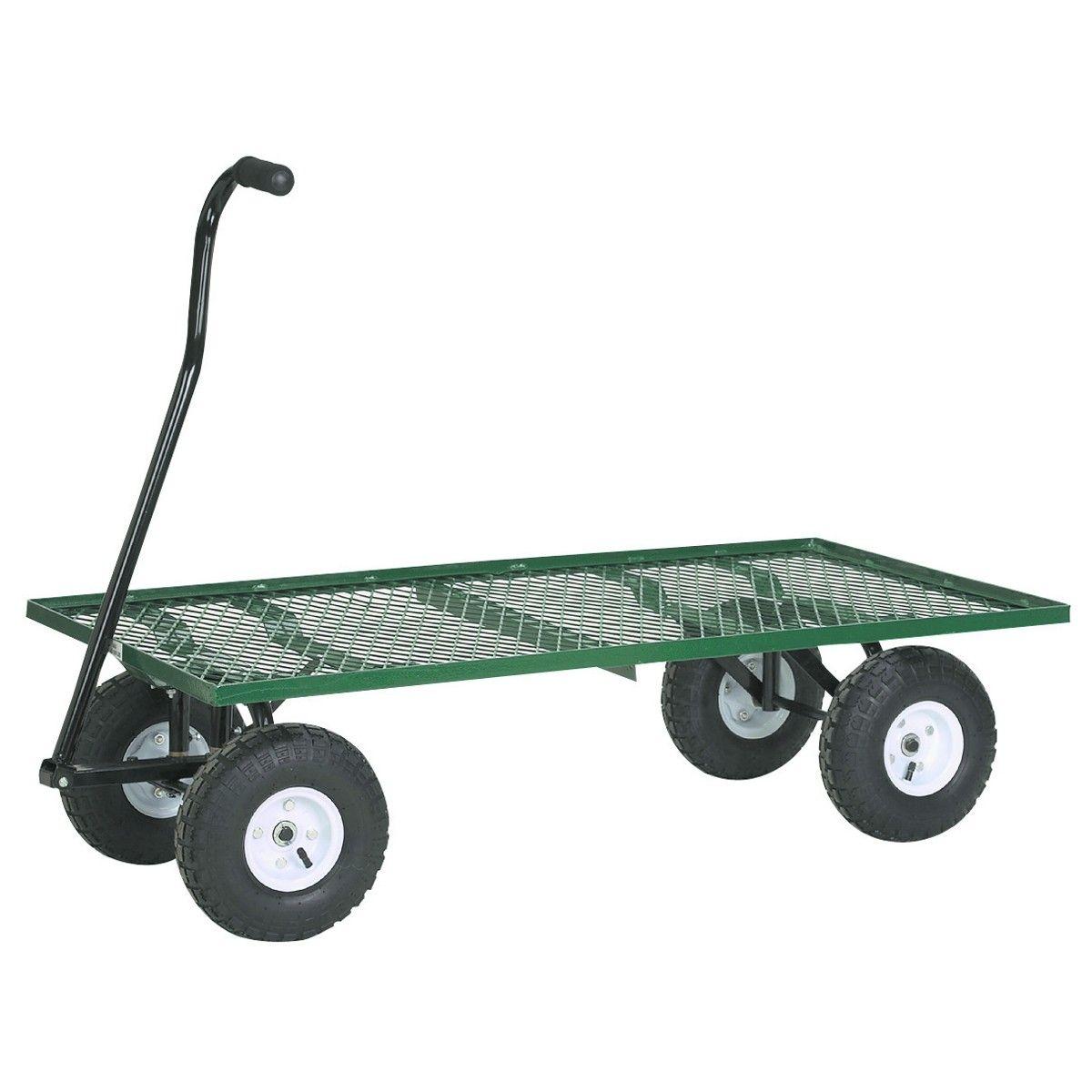 1 000 Lb Mesh Deck Steel Wagon Beach Cart Best Garden Tools Garden Cart