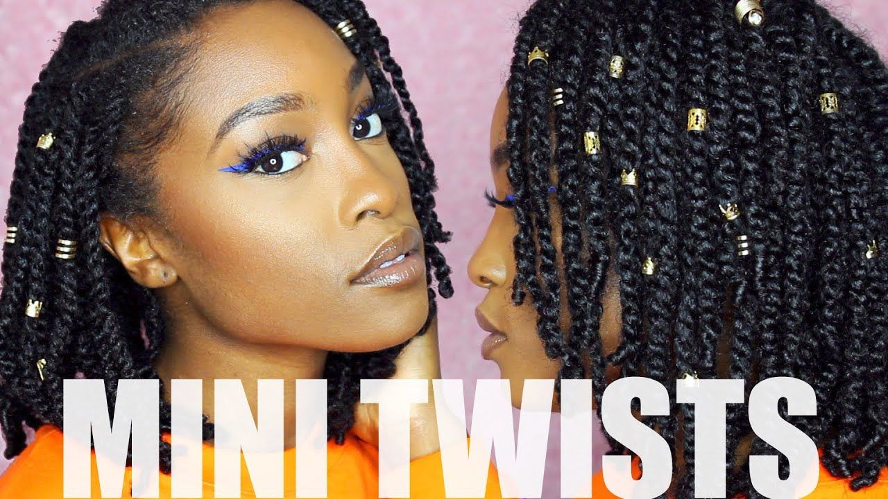 Easy Mini Twists On Medium Length Natural Hair Protectig Moodygeee Natural Hair Tutorials Natural Hair Tutorials Protective Styles Natural Hair Styles