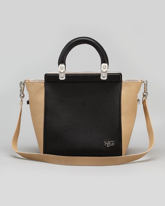 b9009e80e8bf4 HDG Top Handle Small Leather Tote Bag Black   Handbag Heaven   Bags ...