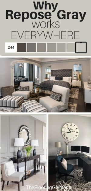 Repose Gray from Sherwin Williams (SW7015) - Fabulously Neutral | The Flooring Girl