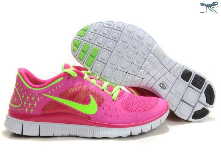 56c0605327ff 510643-601 Fireberry Electric Green Pro Platinum Electric Green Nike Free  Run 3 Womens