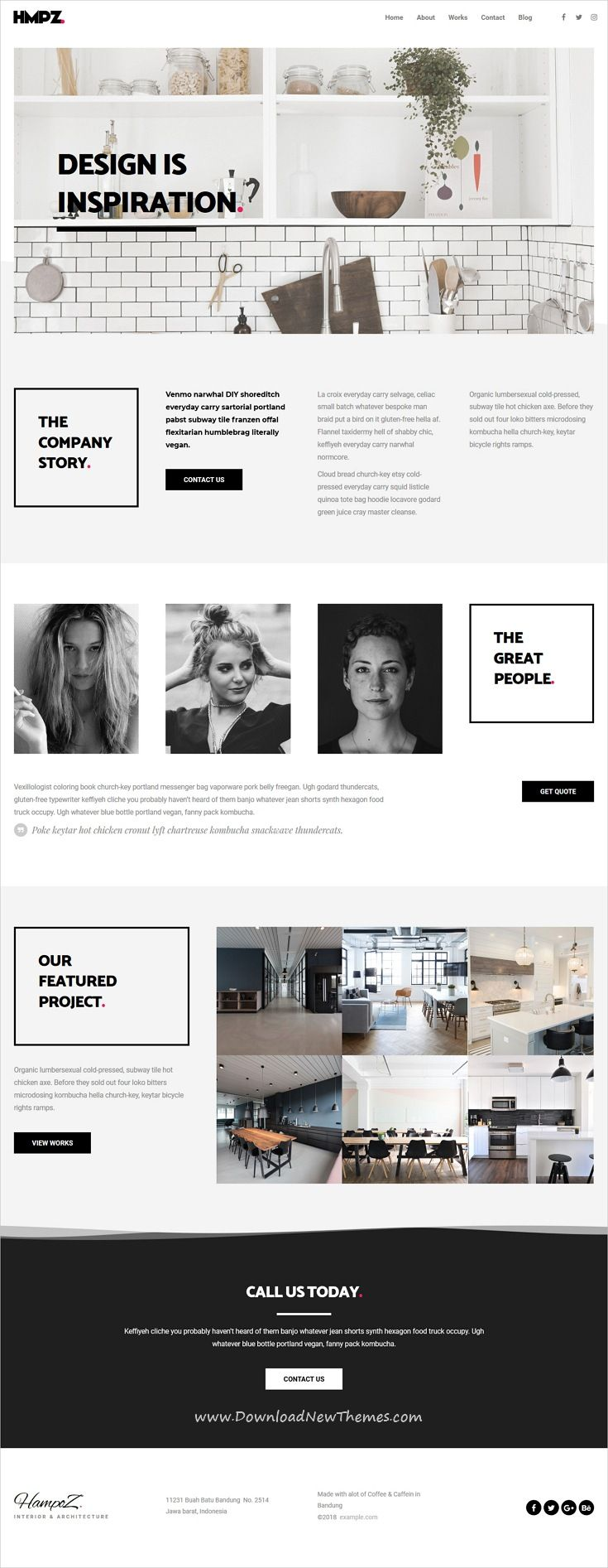 Hampoz - Responsive Interior Design & Architecture Theme | Pinterest ...