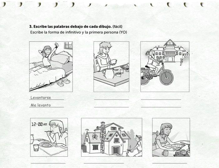 Actividad rutinas diarias. www.rockalingua.com