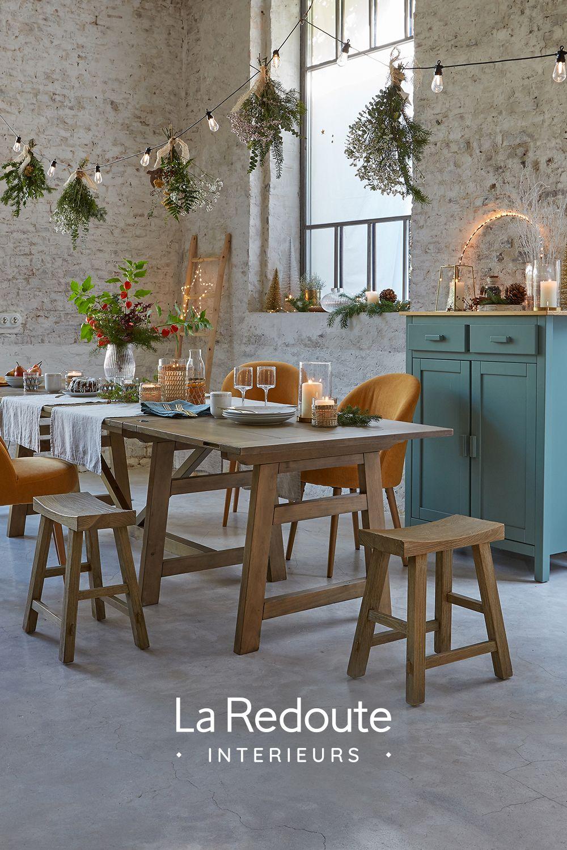Cet Hiver Place Au Naturel On Associe Le Rotin Tresse Des Meubles En Bois Brut Et Decoration Salle A Manger Decoration Et Renovation Deco Maison