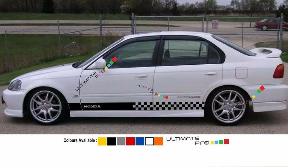Decal Sticker Stripe For Honda Civic 1997 1998 1999 2000 Ek9 Type R Lowering Kit Ultimateprocy1 Honda Civic Civic Honda Civic Sedan