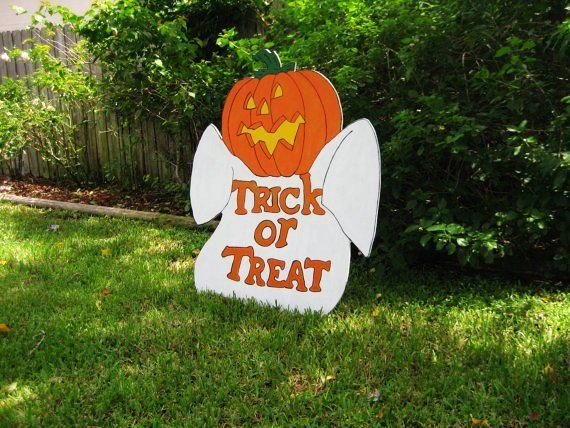 2014 Scary Ghost Pumpkins Head Halloween Yard Art Decoration - pinterest halloween yard decor