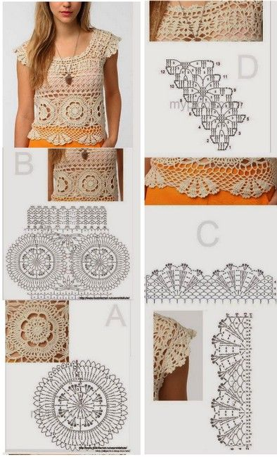 17 Magníficas Blusas y Tops en Ganchillo | crochet | Pinterest ...