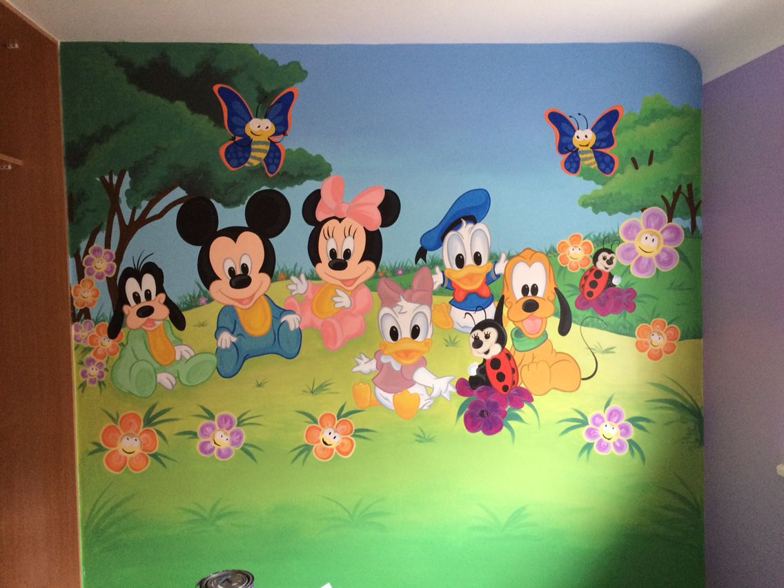 Disney Kids Painted Wall Mural
