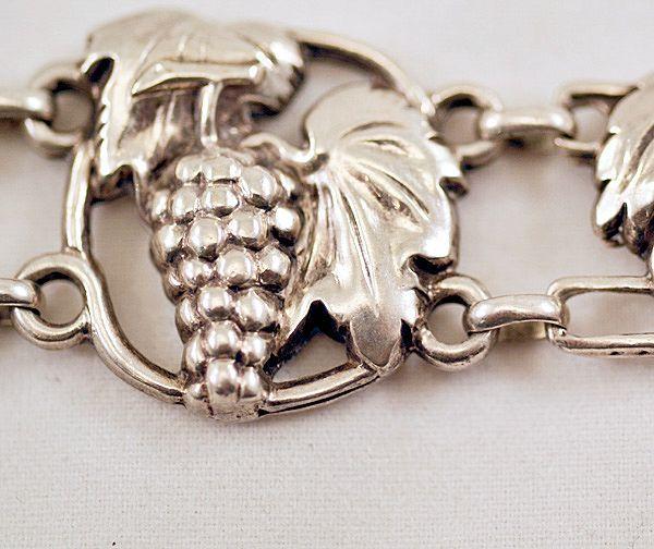 Vintage McClelland Barclay Sterling Silver Grape Cluster Bracelet ...