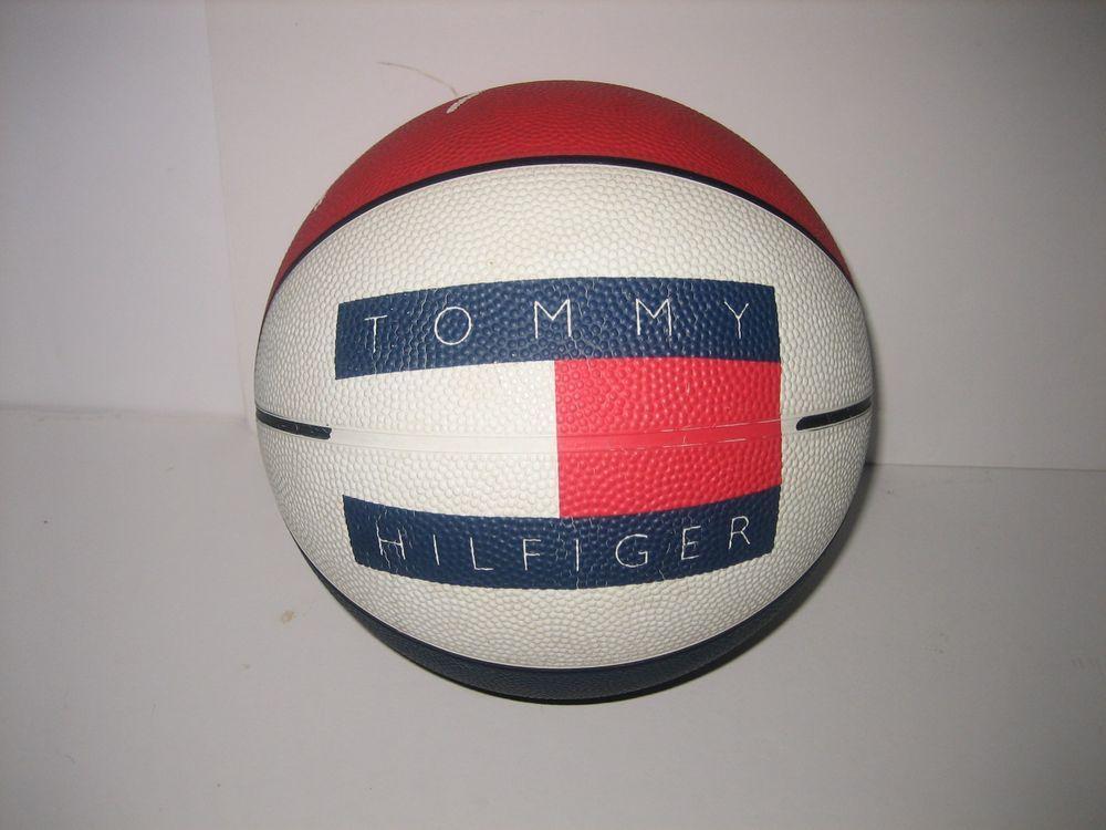 Vintage 1990 s RETRO Tommy Hilfiger Promo Basketball Big Flag Signature  Ball  36adc5aa4b