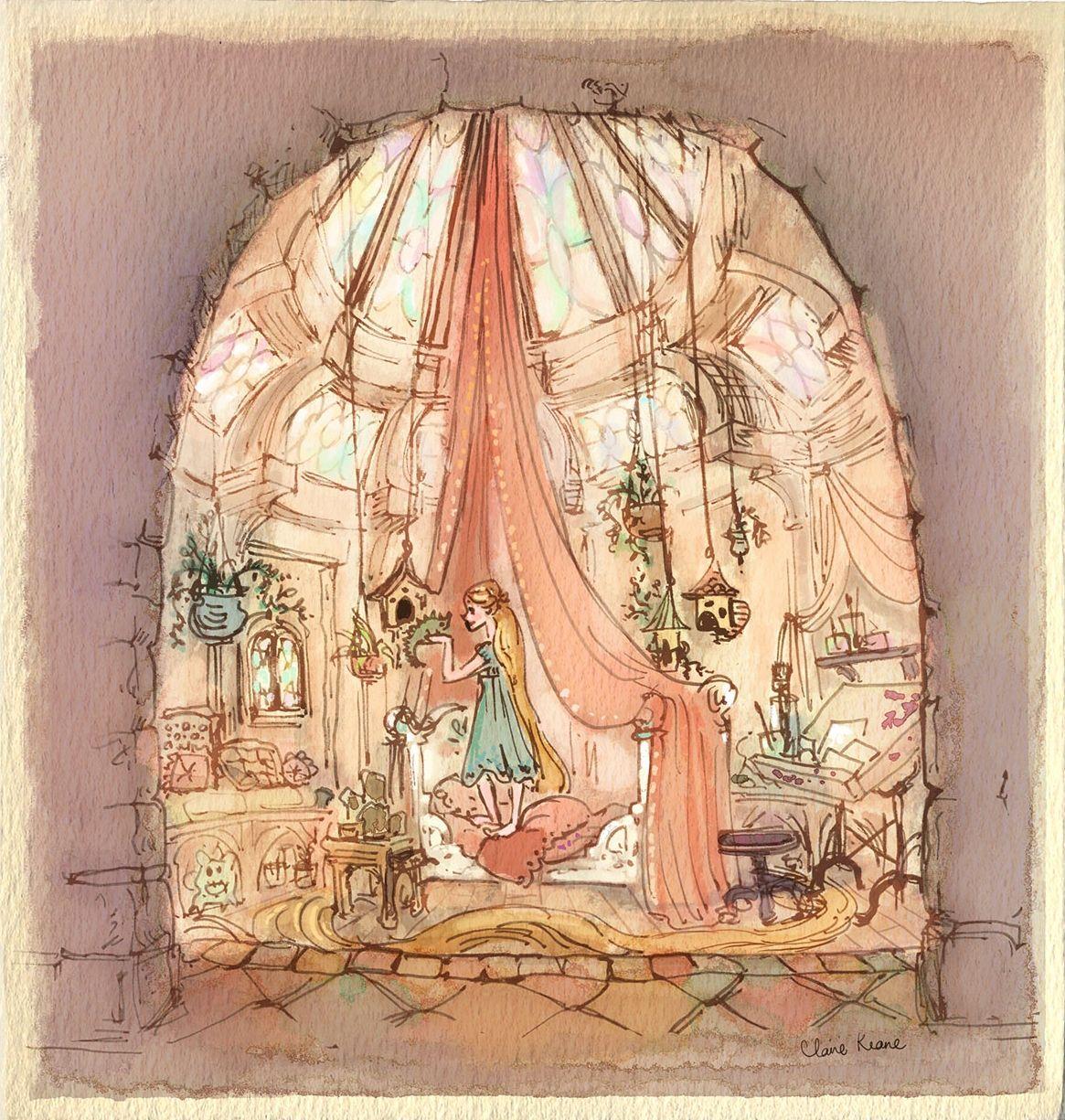 Best Rapunzel In Her Bedroom Visual Development For Tangled 400 x 300