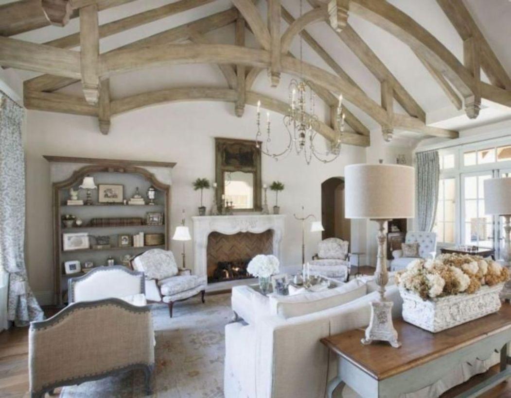 100 Incredible European Farmhouse Living Room Design I