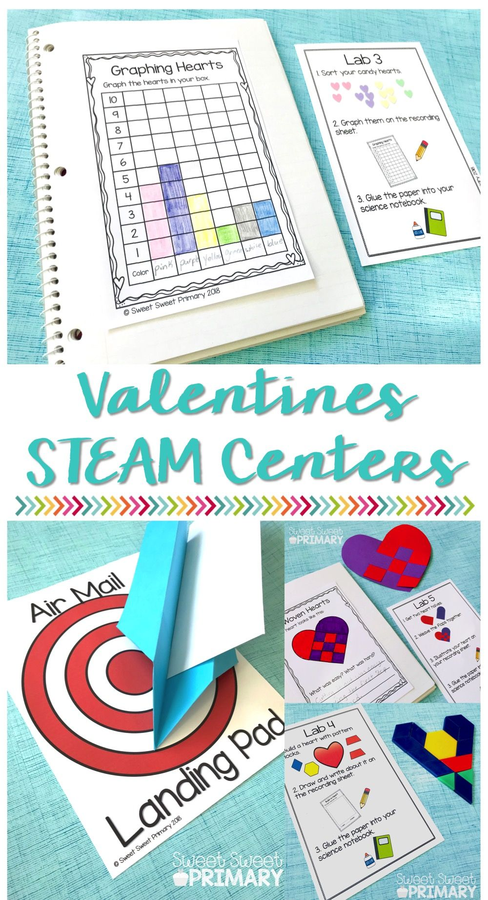 Valentines STEAM Centers Unit | Science Centers for Primary Grades ...