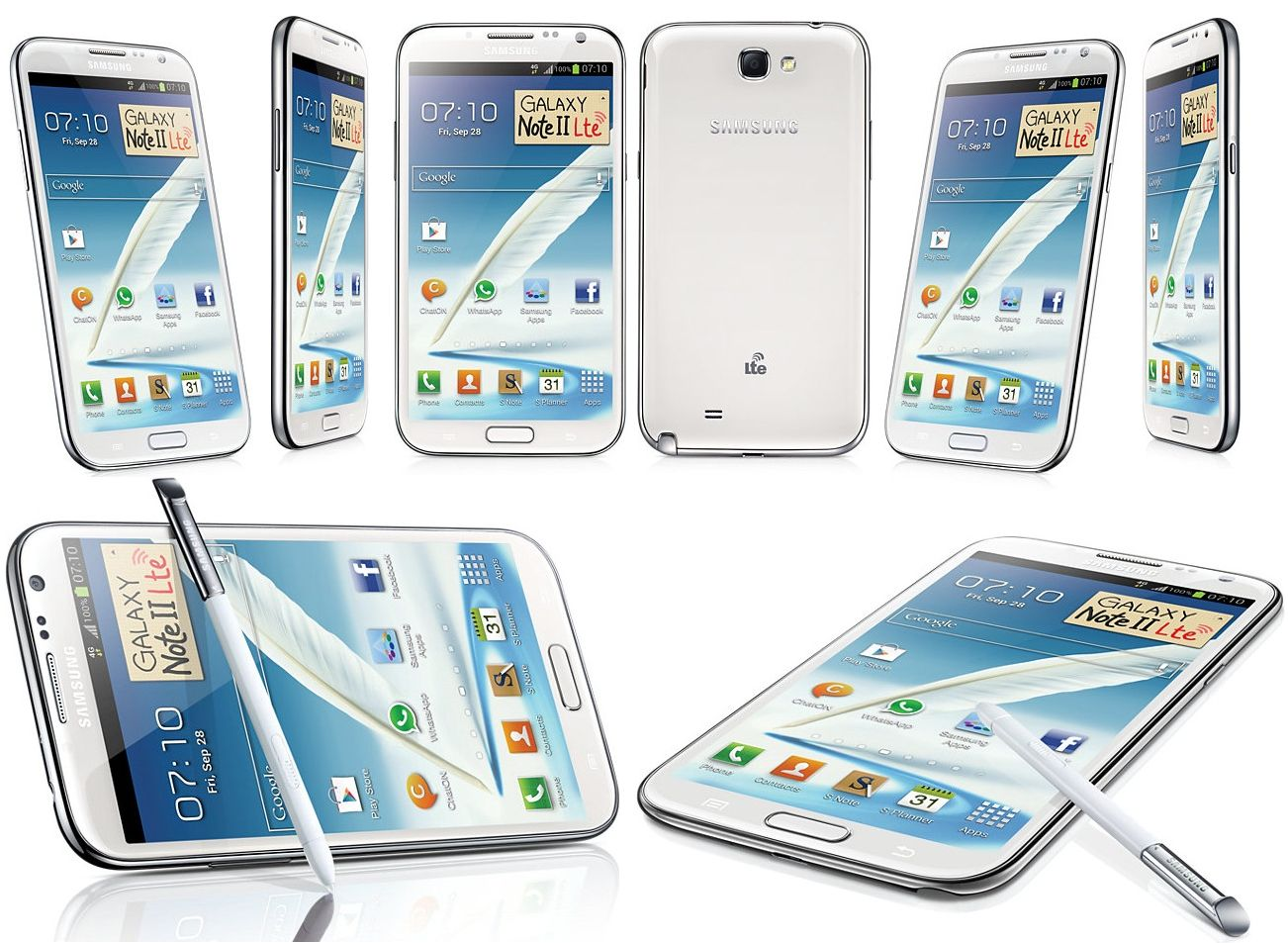 Samsung Galaxy Note 2 (Samsung N7105 NOT N7100) in Marble White - http://www.phoneslimited.co.uk/Samsung/Galaxy+Note+2+White+LTE.html