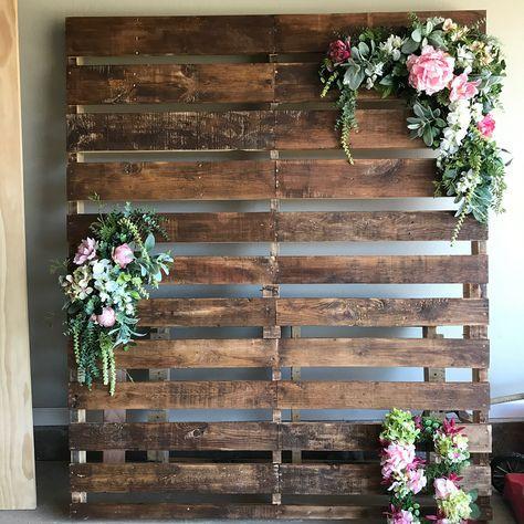 wood walls backdrop diy pallet 65+ ideas | pallet wedding