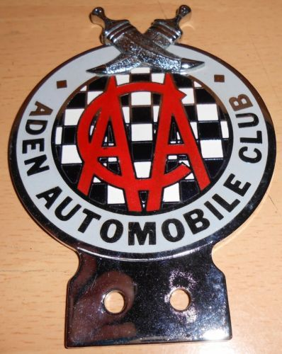 cast aluminium Automobile Association plaque