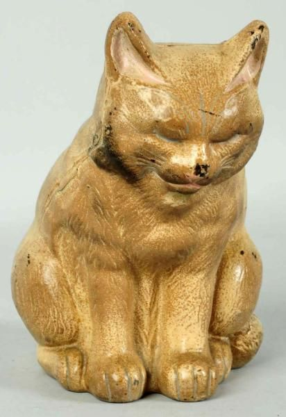 Vintage Cast Iron Cat Doorstop Made By Hubley