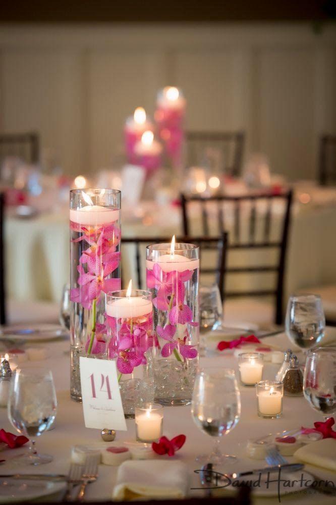 17 centros de mesa para bodas con velas flotantes Centros de mesa