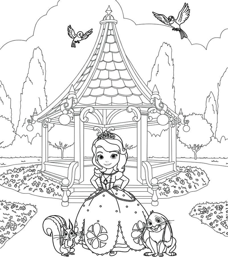 Imprimir Dibujos para Colorear de Princesas Sofia de