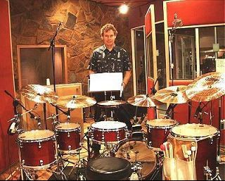 Bill Bruford With A Symmetrical Setup Kit Drums Bill Bruford Band Posters