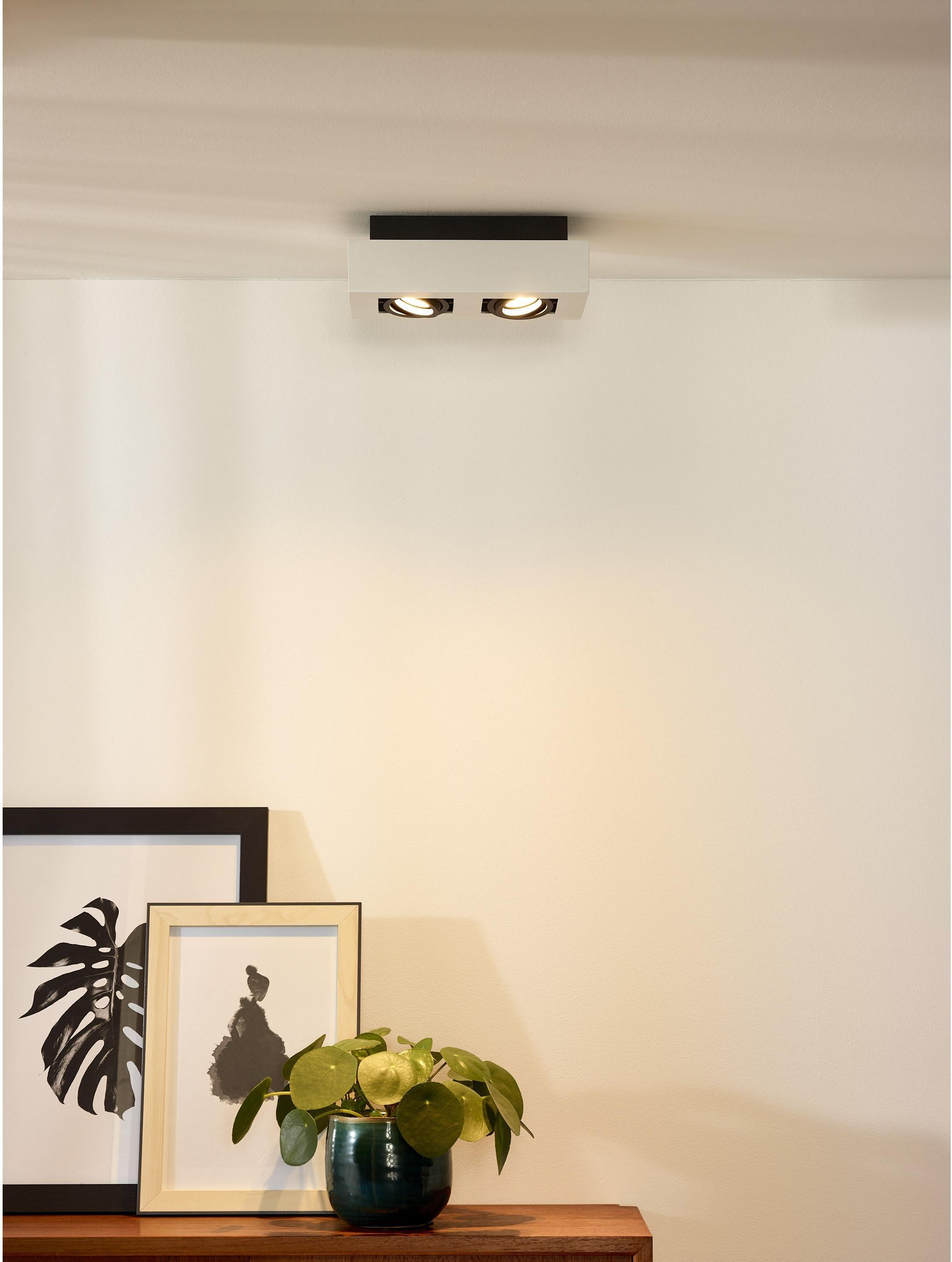 Spot Gu10 Moderne Aluminium Blanc Lucide Xirax Spot Plafond Spot Led Plafonnier