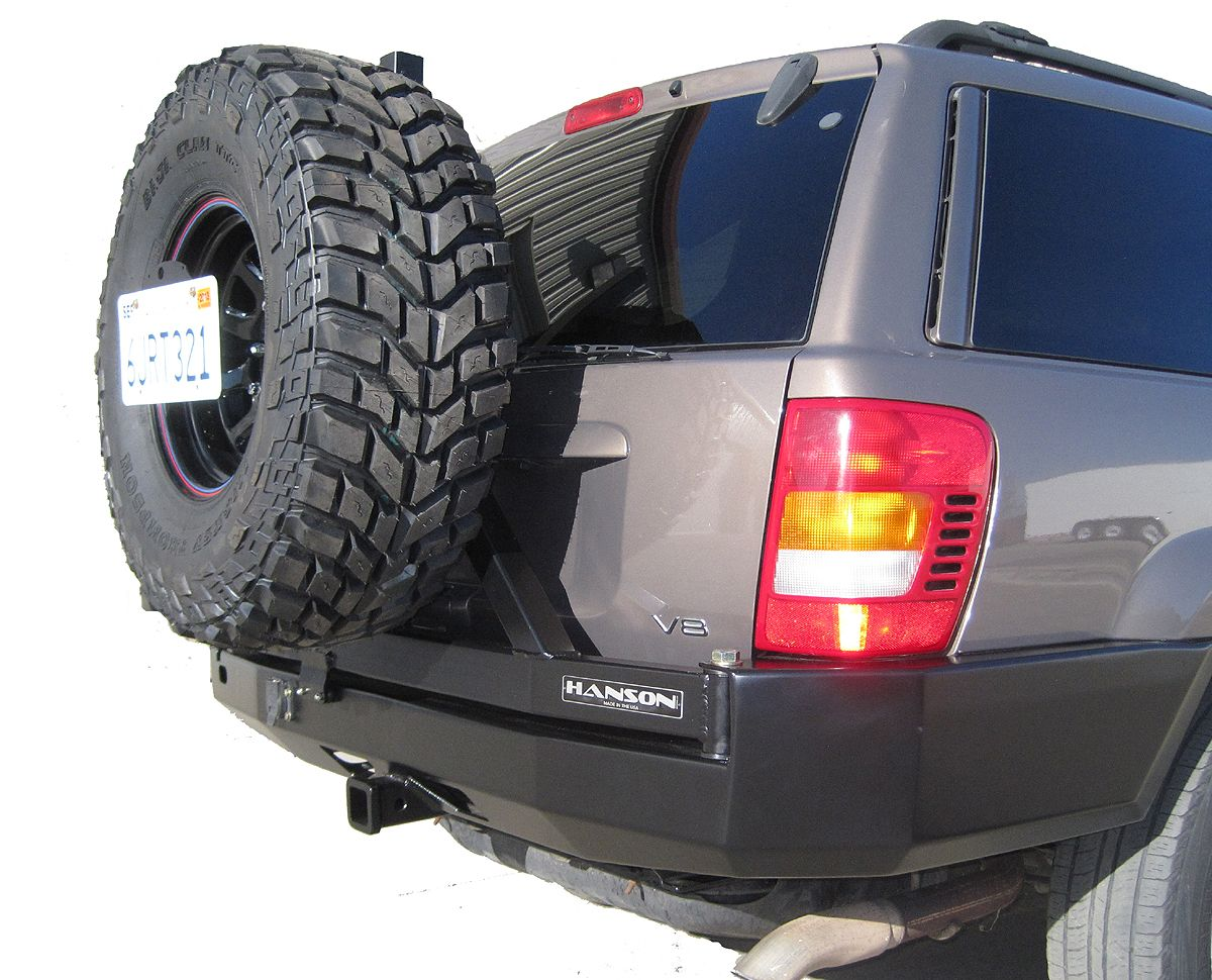 Hanson Wj Grand Cherokee Rear Bumper Tire Carrier Jeep Bumpers