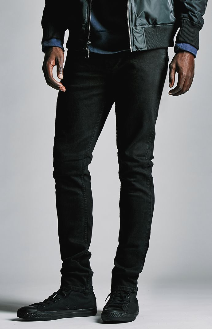 Vintage Black Stacked Skinny Jeans Black Jeans Men 206e0bd1f6bf