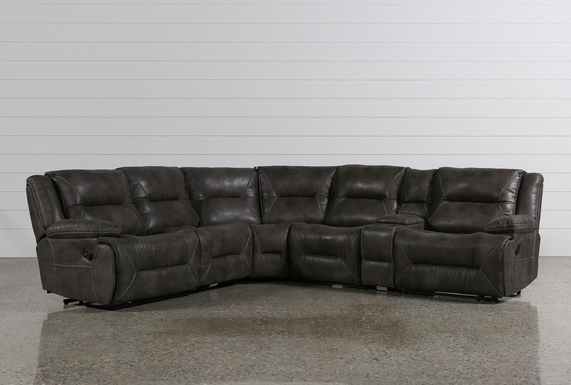 Calder 6 piece manual reclining sectional signature