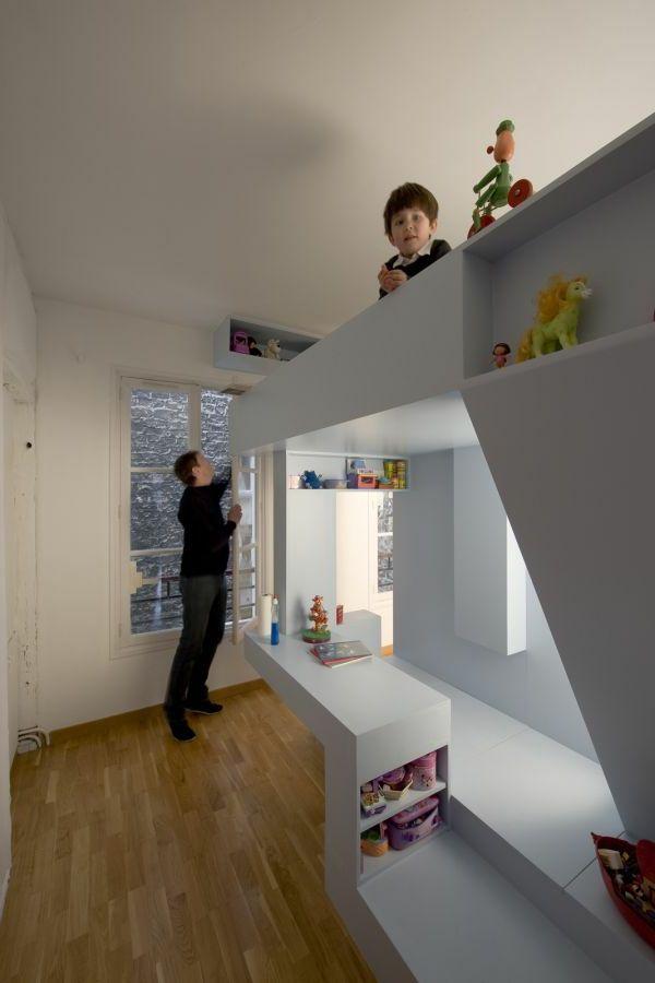 bett design- 24 super ideen für kinderzimmer innenarchitektur, Schlafzimmer