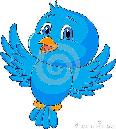 Cute blue bird cartoon by Tigatelu, via Dreamstime ...